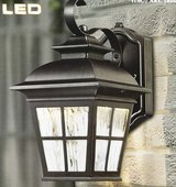 Altair LED Steel Construction in Patina Brush Finish Outdoor Coach Wall Light in Naperville, Illinois
