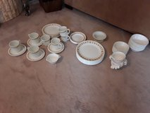 Set of 79 pieces Corelle butterfly gold dishes in Algonquin, Illinois