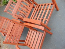 5 Wood Chairs, Smith and Hawken in Yorkville, Illinois