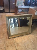 Large handcrafted wood mirror in Fort Polk, Louisiana