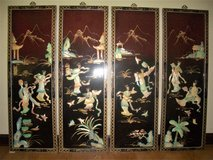 """Lot Of 4 Oriental Mother Of Pearl Wall Decors - 36"""" x 12"""" in Moody AFB, Georgia"""