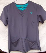 Nice Scrub Top, COUTURE GOLD, Size M, Slate Blue in Alamogordo, New Mexico