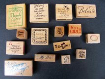 Rubber Stamps, Sayings/Words, 15 Stamps, Many VTG in Alamogordo, New Mexico