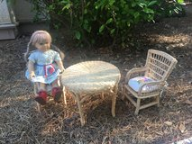 American Girl - table and 2 chairs with cushions (doll not available) in Beaufort, South Carolina