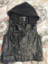 New Faux Leather Hooded Biker Vest in Alamogordo, New Mexico