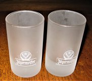 Two (2) Jagermeister 2-4cl Frosted Shot Glasses in Palatine, Illinois