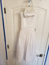 Brand New Girls 7 White Dress with purse bag in Fort Campbell, Kentucky