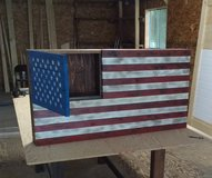 US Flag with Gun Case in Fort Lewis, Washington