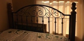 Queen Metal Scroll and Wood Headboard/ footboard and side boards in Quantico, Virginia