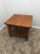 Solid wood end table in Oswego, Illinois