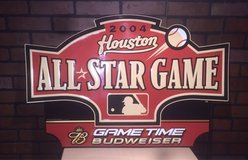 2004 MLB All-Star Game Collectible Astros Sign in Cleveland, Texas