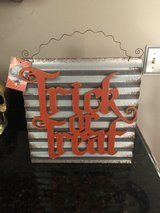 New Galvanized and Wood Trick or Treat Sign in Chicago, Illinois