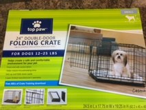 "New 24"" Double Door Dog Crate in Tinley Park, Illinois"