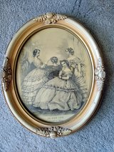 Vintage Framed Print from Le Bon Ton, Journal des Modes (Paris) in Glendale Heights, Illinois