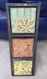 Metal, 3 piece wall painting of plants in Lockport, Illinois