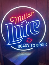 Miller Lite Neon Beer Sign in Orland Park, Illinois
