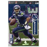 "RUSSELL WILSON 11"" x 17"" Multi-Use Decal Sheet Seattle Seahawks (Reusable) *** NEW in Fort Lewis, Washington"