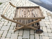 Rolling Wooden Patio Beverage Serving Cart in Lockport, Illinois