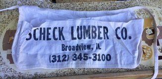 Scheck Lumber Co. Roofing Nail Pouch Tool Belt Apron Advertising in Lockport, Illinois