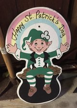 Wooden Happy St. Patrick's Day Sign in Chicago, Illinois
