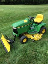 John Deere TRACTORS and MISC. EQUIPMENT; BAGGERS,SNOWBLOWERS,PLOWS, DECKS,WHEELWEIGHTS ETC. in Chicago, Illinois