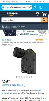 holster w/ T a s e r pulse in Beaufort, South Carolina