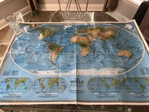 National Geographic Society double sided World Map in Byron, Georgia