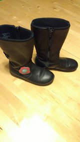 Black leather girl boots Bumbums brand!! size 2 in Fort Lewis, Washington