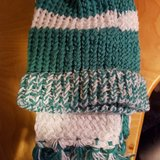 Loom knitted hat and scarf set in Fort Lewis, Washington