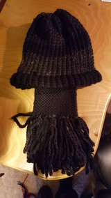 Loom knitted scarf and hat set in Fort Lewis, Washington