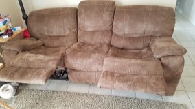 leather suede recliner sofa and loveseat in Hinesville, Georgia