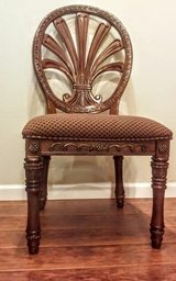 """4 Matching Chairs Sold With 50"""" Beveled Glass Topped, Pedestal,Dining Table in Yucca Valley, California"""