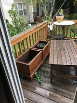 2 ORANGE WOOD BOX PLANTERS in Oswego, Illinois