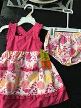 12 month NWT dress & bloomer in Yorkville, Illinois