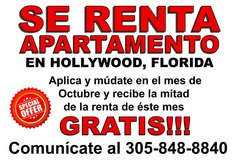 RENTA DE APARTAMENTO en HOLLYWOOD, FLORIDA - OFERTA in Melbourne, Florida