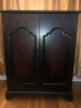 Black and Cherry Finish Cabinet in Glendale Heights, Illinois
