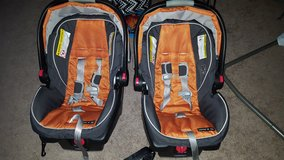 Two car seats in Fort Lewis, Washington