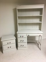 Desk, bookcase and side table in Chicago, Illinois