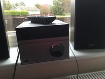 DAB Sony radio/CD player with speakers in Lakenheath, UK