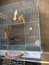 2.4 ft tall bird cage w/ toys in Okinawa, Japan