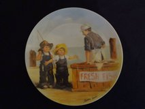 Fish Story Plate - 8-1/2 diameter - registered number in The Woodlands, Texas