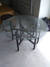 Glass table in Kingwood, Texas