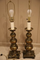 Lamp - Stiffel Solid Brass  35 inches tall to top of harp Only one left in Naperville, Illinois