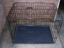LARGE METAL FOLD UP ANIMAL CAGE/CRATE--STILL AVAILABLE in Perry, Georgia