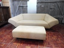Rolf Benz Designer Couch with Matching Ottomann in Ramstein, Germany