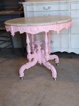 antique ornate marble top entryway table in Cherry Point, North Carolina