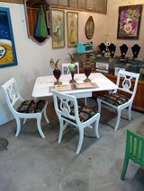 signed ultra high end dining table and chairs in Cherry Point, North Carolina
