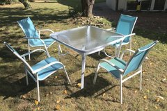 white/blue patio set in Ramstein, Germany