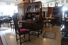 antique English secretary desk with inlay work in Stuttgart, GE