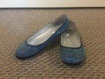 New!  Girl's Sparkly Crystal-Covered Flats Shoes Size 4 in Naperville, Illinois